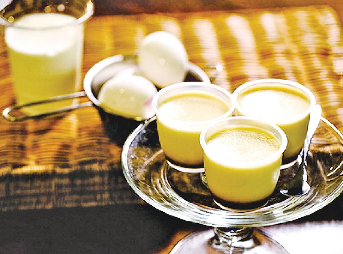 融合了伯爵茶香氣的伯爵茶布甸。