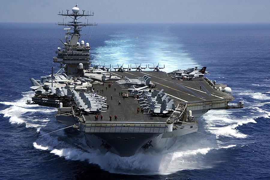 卡爾文森戰鬥群將在4月26日抵達朝鮮半島。(Petty Officer 2nd Class Dusty Howell/U.S. Navy via Getty Images)