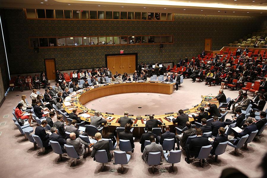美國在安理會提議一份譴責北韓導彈試驗的聲明,中國支持這項措施,但是俄羅斯反對。(Spencer Platt/Getty Images)