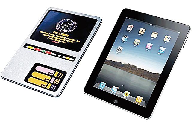 iPad的名字,很可能是從《星際迷航》的PADD那裏抄過來並加以變化的。(網頁截圖)