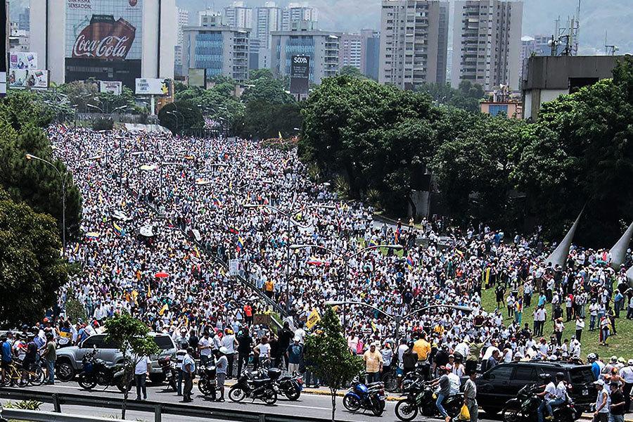 反對總統獨裁 委國爆「示威之母」激烈抗議