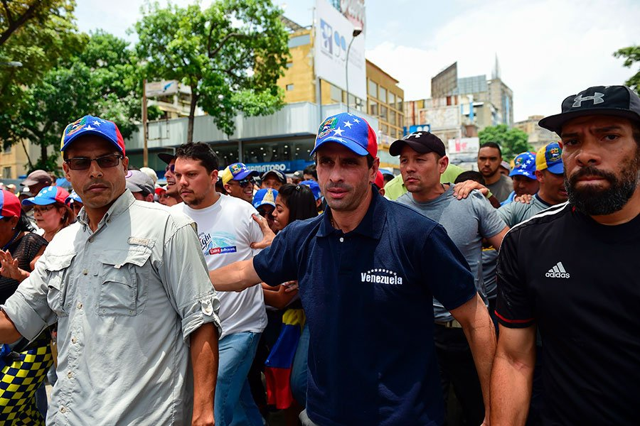 委國反對陣營領袖卡普里萊斯(Henrique Capriles,如圖中)。(RONALDO SCHEMIDT/AFP/Getty Images)