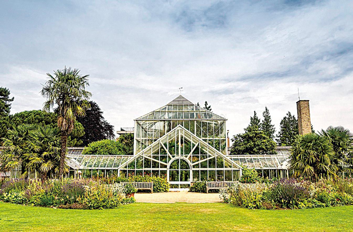劍橋大學植物園裏的玻璃花房。(Frankix/Depositphotos)
