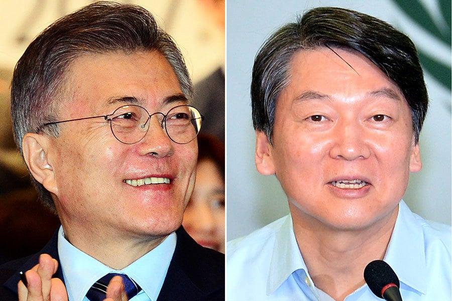 南韓大選文在寅領跑 與安哲秀差距拉大