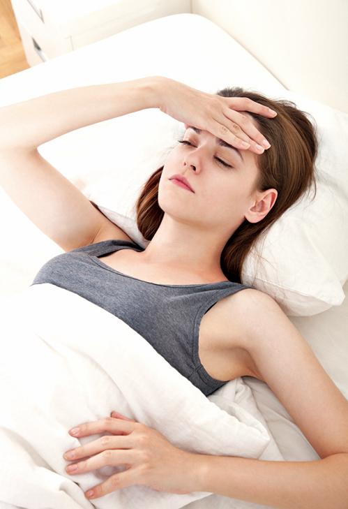 女人月事惹來偏頭痛