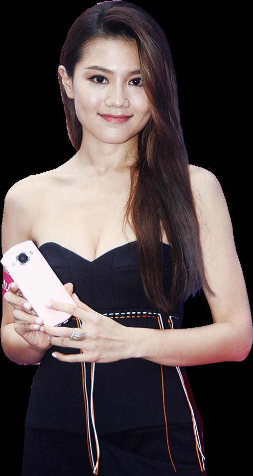 周秀娜昨日出席微電影分享會。(宋碧龍╱大紀元)