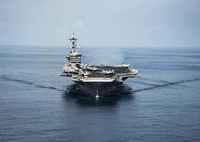 北韓局勢升級 日艦和卡爾文森航母聯合軍演