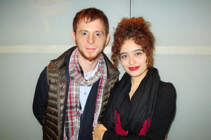 歌手Laura Bravo女士和心理學家、詩人Mariano Zuccolo先生觀看了4月23日的神韻演出。(Bowen Xiao/大紀元)