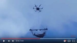 無人機載人飛行? 格魯吉亞居民看傻眼