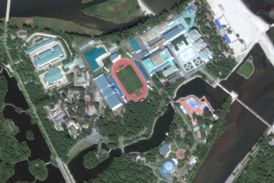 金正恩還有一個設施奢華的私人度假島嶼,專門用於招待賓客。(Google地圖)