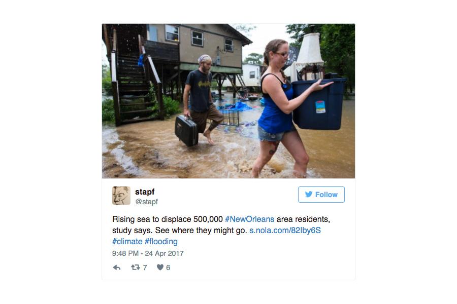 美卡羅萊納遭洪水侵襲 數百萬人受威脅