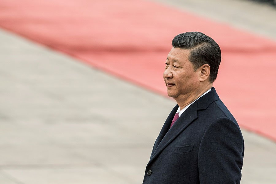 中共政協修改章程,料將寫入「習思想」。(FRED DUFOUR/AFP/Getty Images)