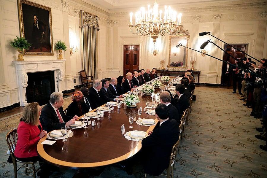 特朗普會見安理會成員國大使 敦促聯合國改革