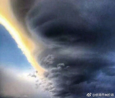 「UFO雲」驚現雲南大理 超似龍捲風