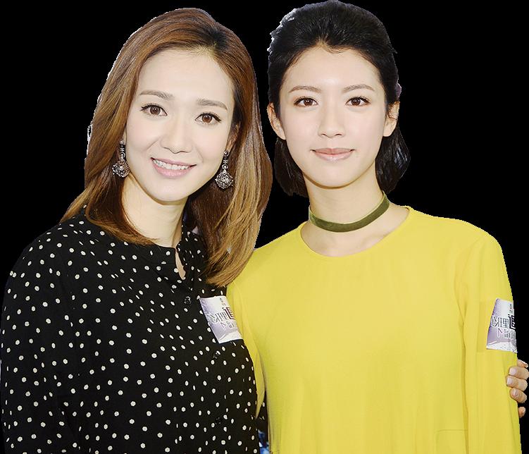 王君馨與蔡思貝在《心理追兇》劇集中扮演的角色性格各異。(宋碧龍/大紀元)