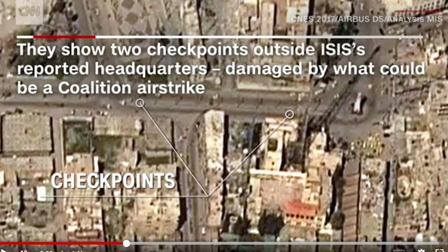 拉卡也許是地球上最孤立的、最壓抑的城市。現在,在被IS(伊斯蘭國)攻佔三年之後,這個軍事據點冰冷的細節開始浮現。(視像擷圖)
