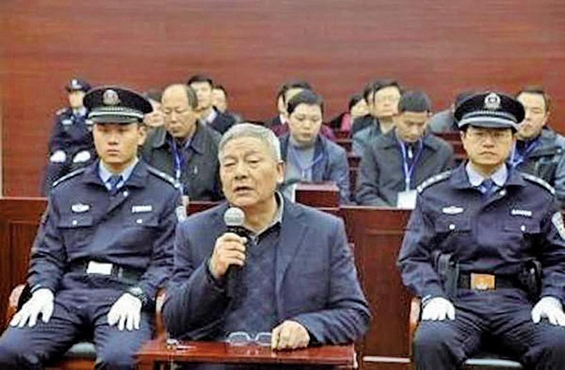 中共安徽省委巡視組前副組長方克友在庭審現場。(網絡圖片)