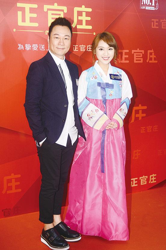 黎耀祥和林穎彤昨日出席保健產品新店開幕禮。(宋碧龍/大紀元)