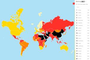 全球新聞自由指數排名 港排名持續退步