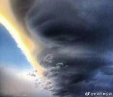 「飛碟雲」現雲南大理 超似龍捲風
