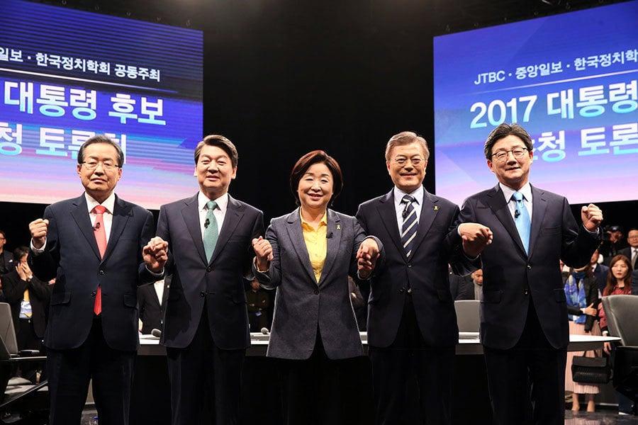 南韓大選兩強差距拉大 安哲秀是否聯盟成變數