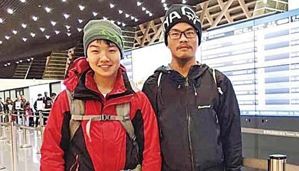 失蹤47天的台灣登山客梁聖岳和女友劉宸君,梁於4月26日中午在一山谷被找到,意識清楚。但劉宸君已無生命跡象。(Ganesh Himal Tourism Development臉書)
