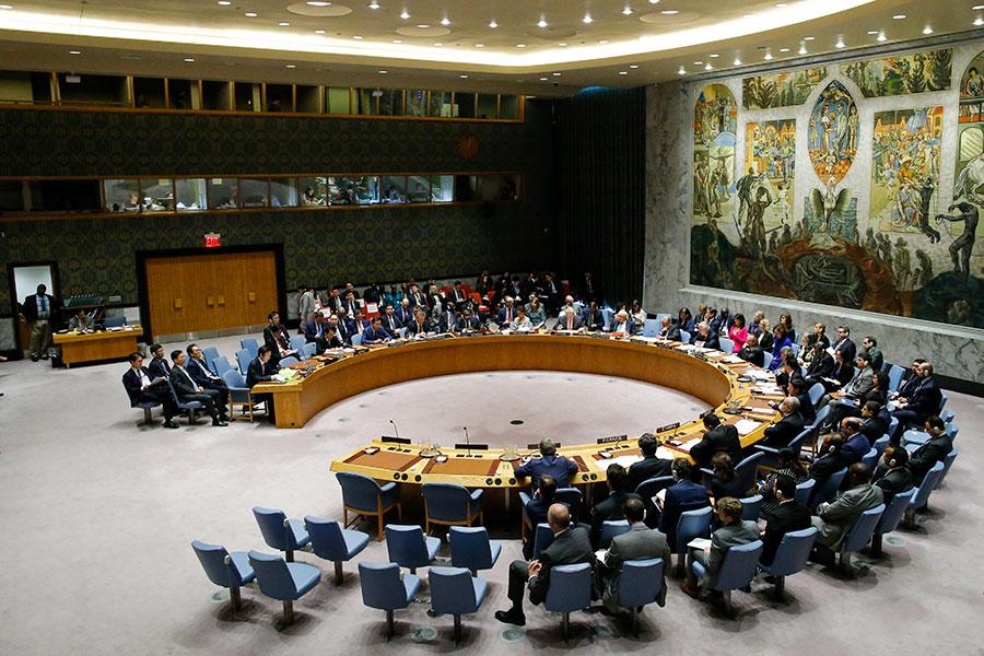 聯合國安理會28日召開會議,各界關注是否通過新制裁措施。(Eduardo Munoz Alvarez/Getty Images)