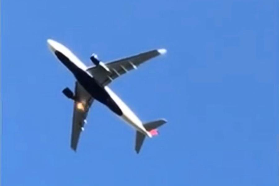 達美航空一航班從北京起飛後著火緊急返航