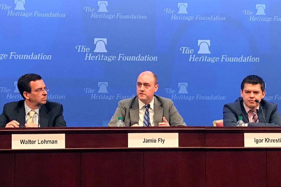 4月28日,美國智庫傳統基金會(Heritage Foundation)舉行了以亞洲問題為主題的討論會。(石青雲/大紀元)