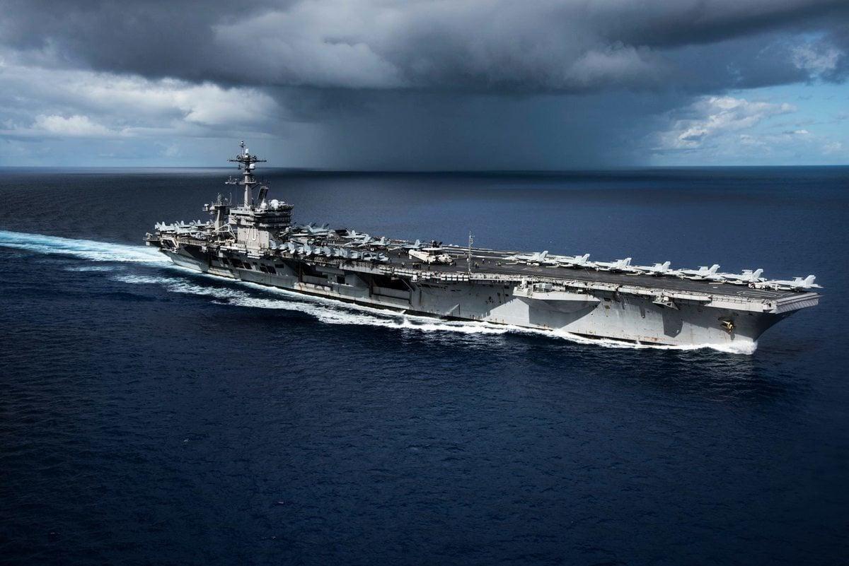 美國卡爾文森號航母戰鬥群日前駛達朝鮮半島附近海域。(US Navy)