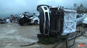 龍捲風夜襲德州小城鎮 造成數十人傷亡