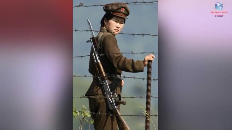 一名在北韓集中營的女守衛。(Breaking News Today YouTube視像擷圖)