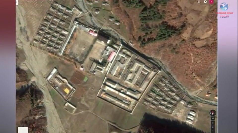 北韓咸鏡北道穩城郡第12號勞改營。(Breaking News Today YouTube視像擷圖)