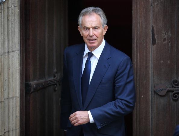 英國前首相貝理雅(Tony Blair)今天表示,為了對抗脫歐,決定重新投入國內政治。(Peter Macdiarmid/Getty Images)