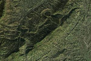 四川蒙頂山神奇巨型圖案 貌似人騎麒麟