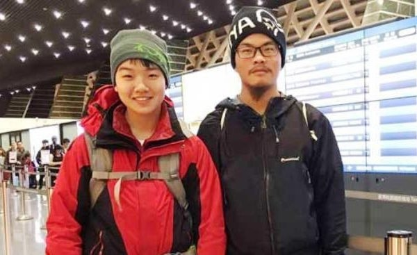 台灣登山客梁聖岳和女友劉宸君3月在喜馬拉雅山區登山失蹤近50天後,4月26日中午在一山谷中被找到,但劉宸君已無生命跡象,梁聖岳則意識清楚。(Ganesh Himal Tourism Development's Facebook)
