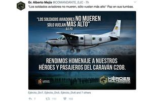 哥倫比亞軍用機失事 八人喪生