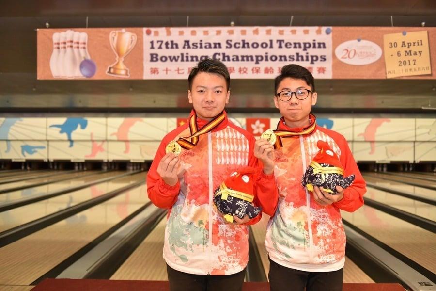 港保齡球亞洲學校錦標賽  男子雙打奪冠