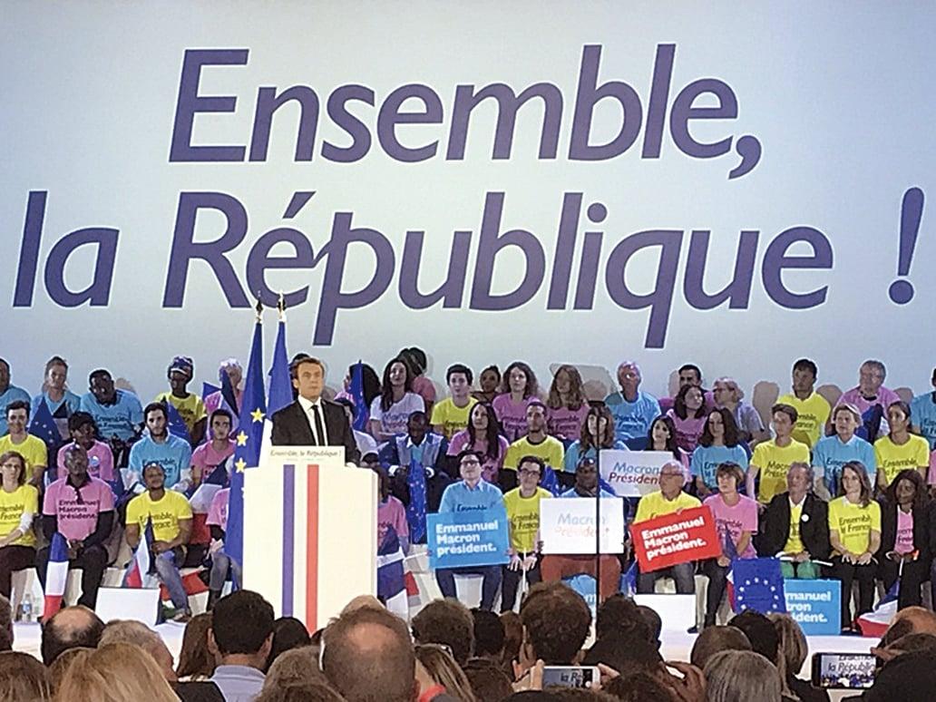 法國總統大選,據調查,65%的極左傾向選民寧可棄權或投無效票,也不 願投給中間派的馬克宏。( 中央社)