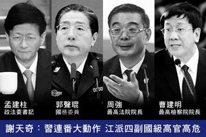 謝天奇:習連番大動作 江派四副國級高官高危