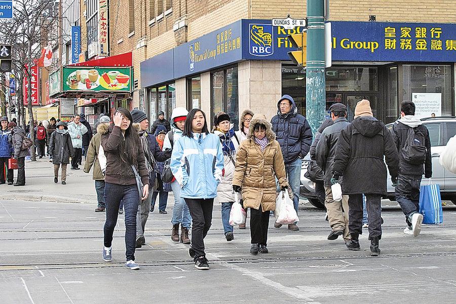 加拿大中國移民升五成 香港移民翻倍