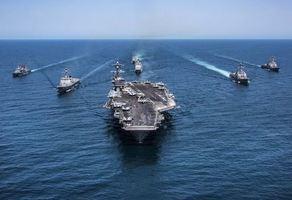 美韓軍演片段:戰機盤旋 卡爾文森航母領航