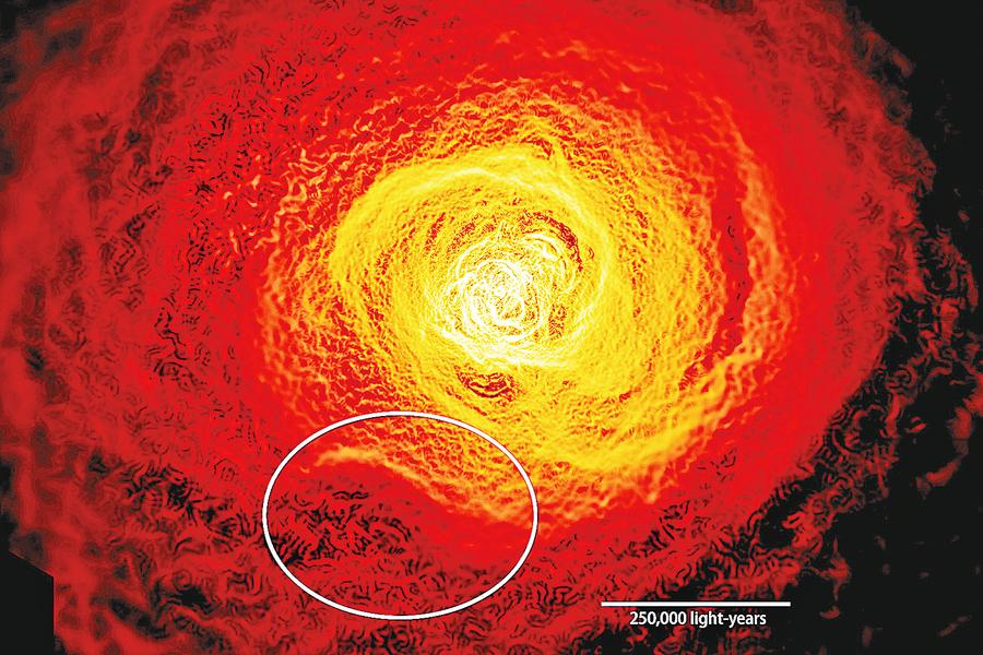 闊達2銀河系宇宙現「驚濤駭浪」