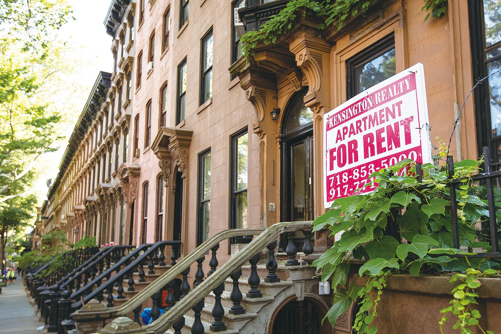 布碌崙一處待租的公寓。 (Drew Angerer/Getty Images)