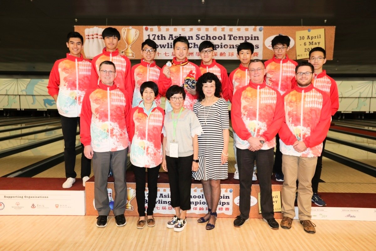 香港隊在第十七屆亞洲學校保齡球錦標賽中,取得1金4銀。(香港保齡球總會提供)