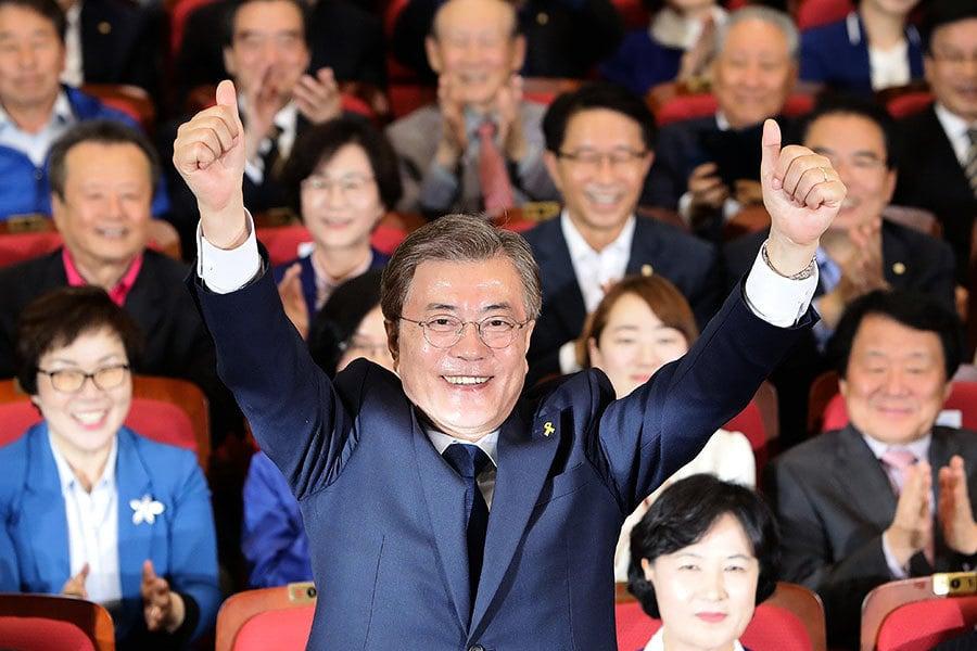 文在寅支持率高 近九成南韓民眾看好