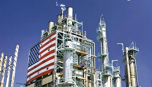 美國加州的一處煉油廠。(Getty Images)
