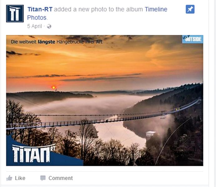 世界最長懸索吊橋你敢挑戰嗎