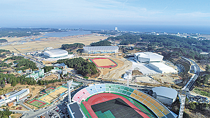 平昌冬季奧運會賽場(平昌冬季奧運會網頁提供)