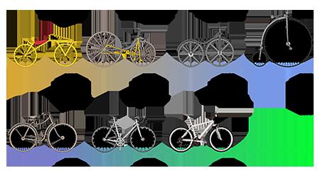 單車的演進。(維基百科)